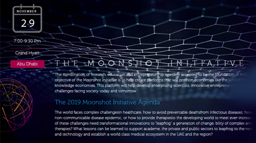 Second edition of the Moonshot Initiative to be held in Abu Dhabi in November